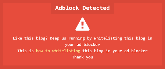 Anti Adblock - Thêm Mã Phát Hiện Và Chặn Người Dùng Sử Dụng Adblock