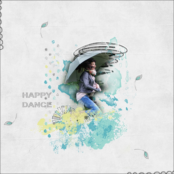 happy dance © sylvia • sro 2016 • dance in the rain • simple girl scrap