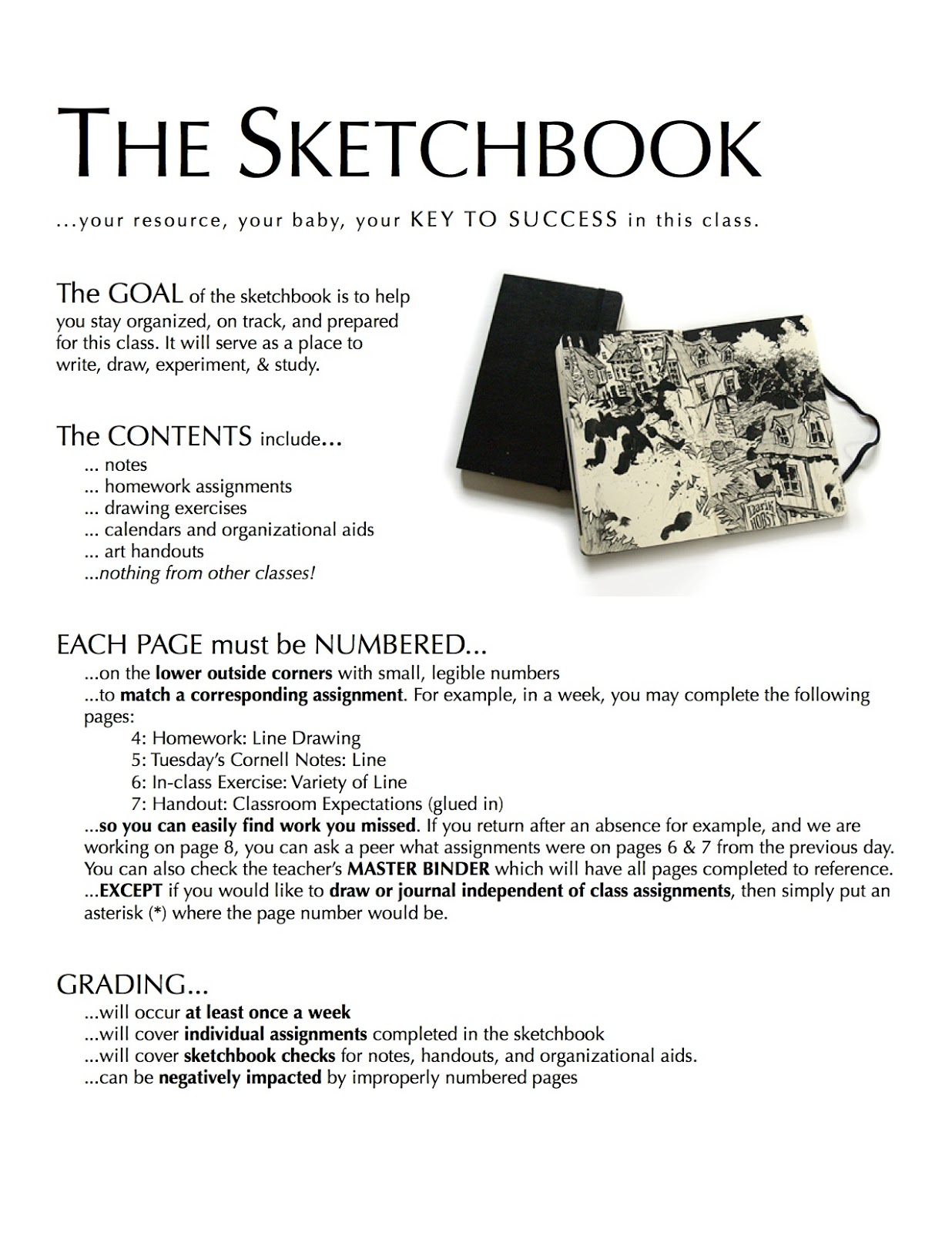 medium resolution of Project ART-A-DAY: Lesson: Elements and Identity Sketchbook Cover