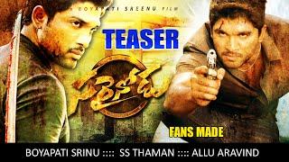 Sarrainodu Official Teaser __ Allu Arjun , Rakul Preet , Boyapati Sreenu __ Sarainodu