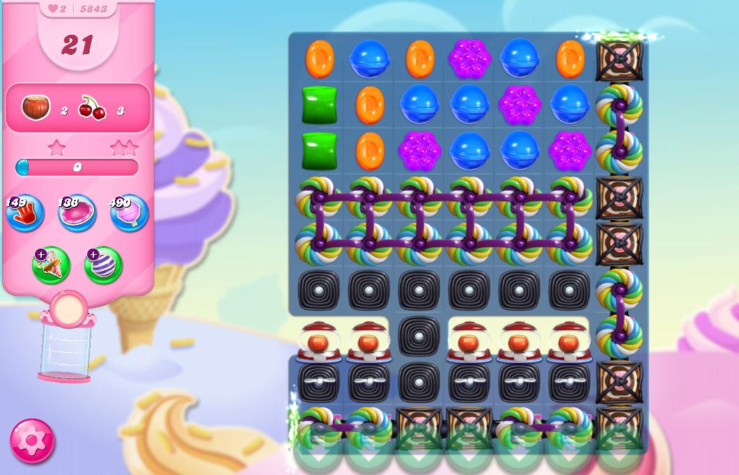 Candy Crush Saga level 5843