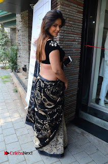 Actress Neetu Chandra Stills in Black Saree at Designer Sandhya Singh's Store Launch  0052.jpg