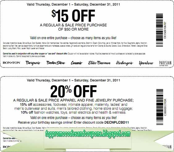 photo about Carson Pirie Scott Printable Coupons called No cost Promo Codes and Discount coupons 2019: Carson Pirie Scott Coupon codes