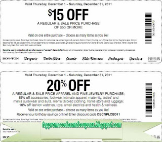 Free Printable Carson Pirie Scott Coupons