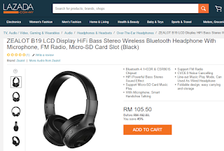 Wireless Bluetooth Headphone From Lazada, My Wish, Music, Songs, Lazada Birthday Blogger Contest