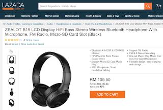 Wireless Bluetooth Headphone From Lazada, My Wish, Music, Songs, Lazada Birthday Blogger Contest
