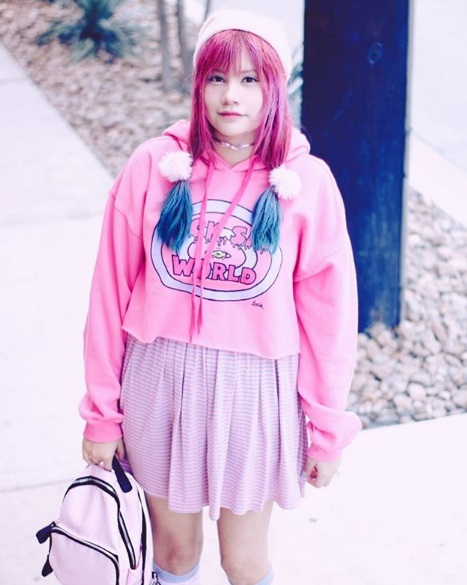 kawaii fashion cute outfits pastel hair pretty clothes jfashion fashion blogger blog dreamy_kawaii pink hoodie pink skirt