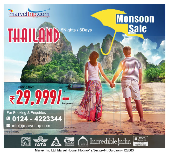 Monsoon Holidays In Kerala: Marvel Trip: Thailand Monsoon Special