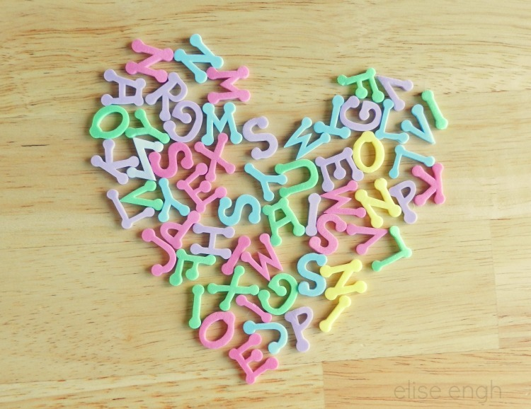 Valentine's Heart Photography- foam letters- Grow Creative