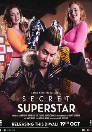 Secret Superstar 2017 HDRip 400Mb Full Hindi Movie Download 480p Watch Online Free bolly4u