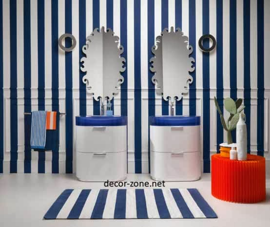 decorated bathroom mirrors designs
