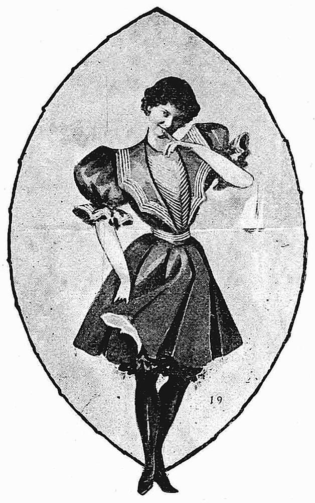 1897 fashion model, coy
