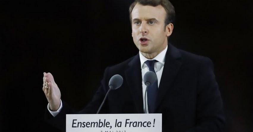 Presidente francés Macron promete recaudar fondos para educación en países pobres