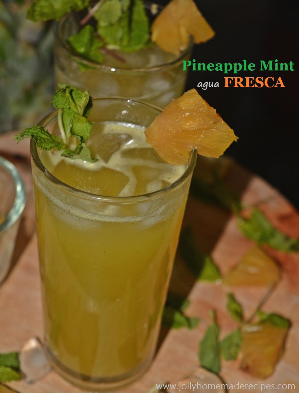 Pineapple Mint Agua Fresca