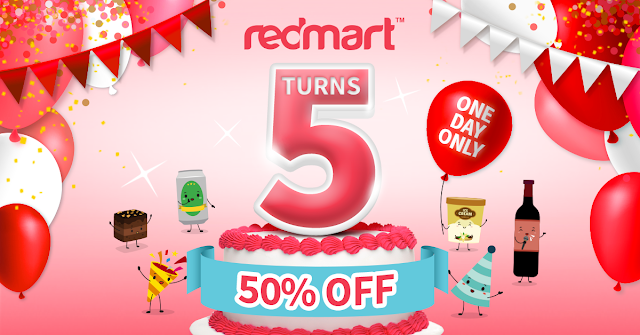 Redmart 5th anniversary sale 50 off