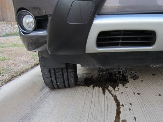 car leaking