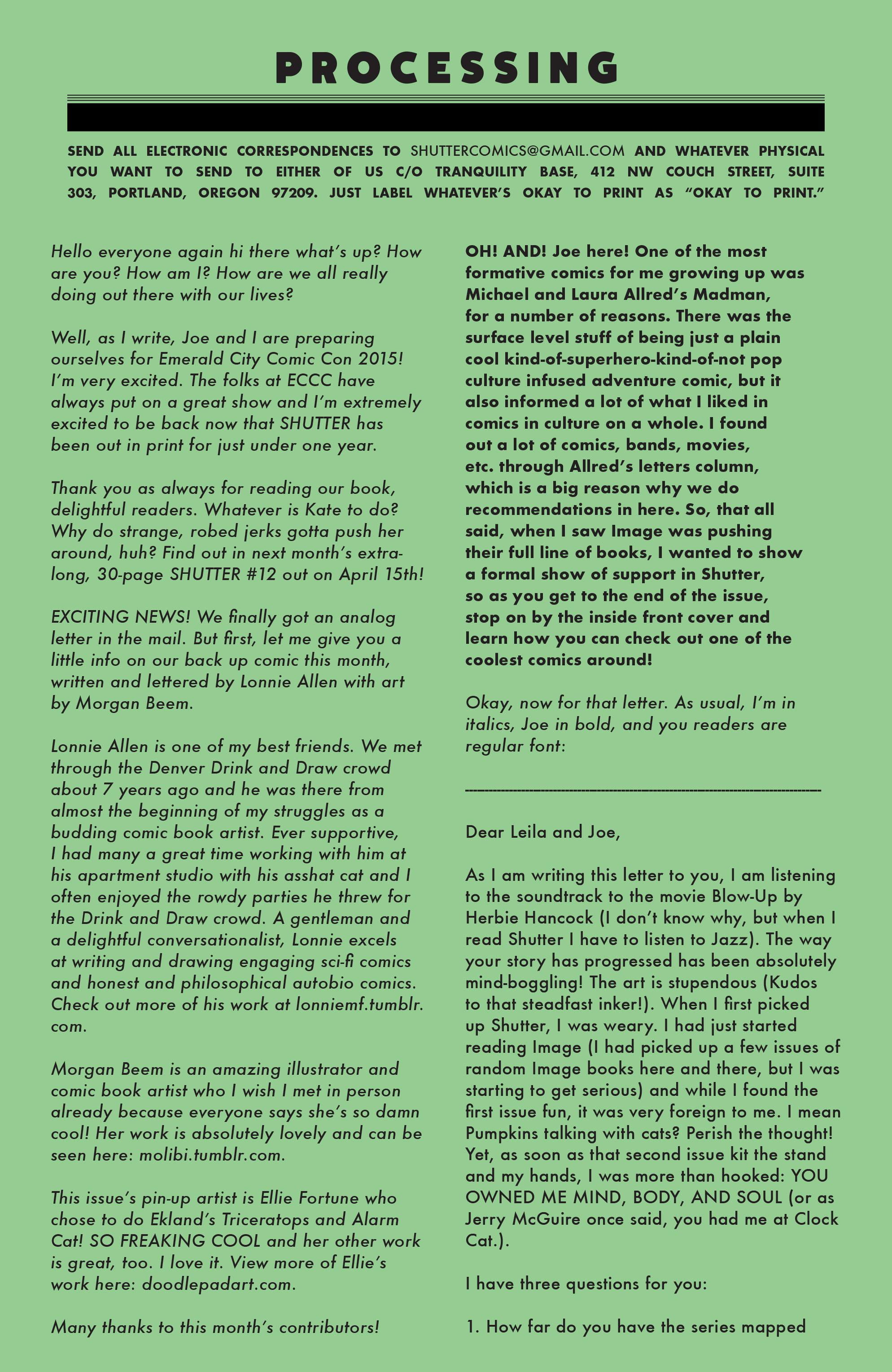 Read online Shutter comic -  Issue #11 - 22