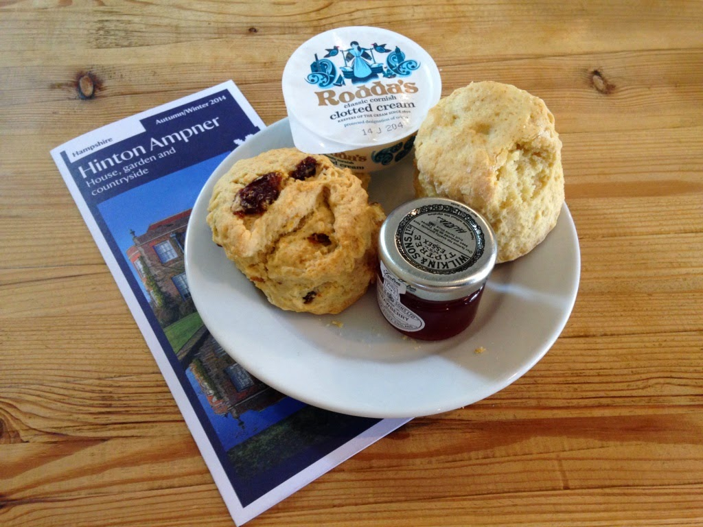 Hinton Ampner National Trust scones