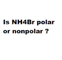 Is NH4Br polar or nonpolar ?