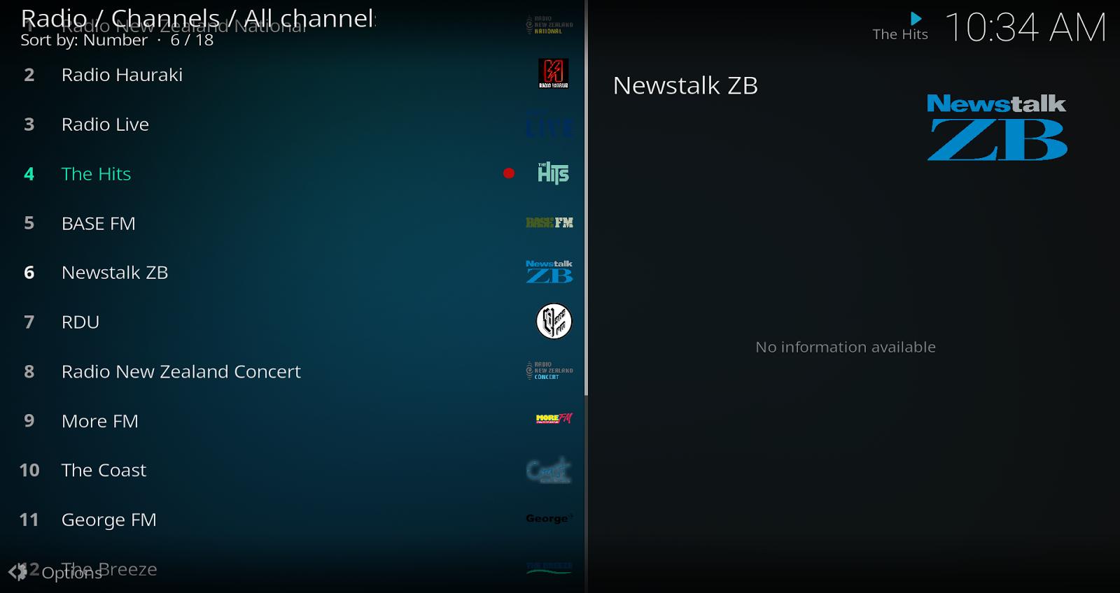 Tvheadend NZ Radio IPTV Setup