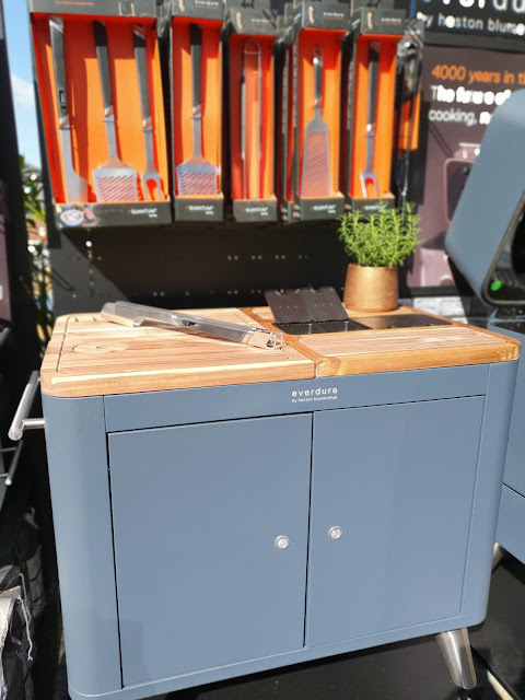 Outdoor kitchen prep unit from Everdure range with Heston Blumenthal