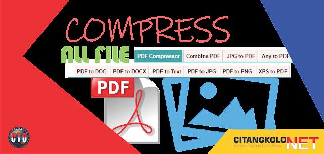 Compress File PDF tanpa Merusak Resolusi