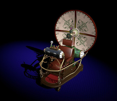 A model of a 19th Century/steampunk-style time machine