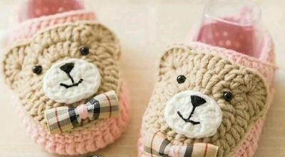 Escarpines para bebes en crochet (Patron)