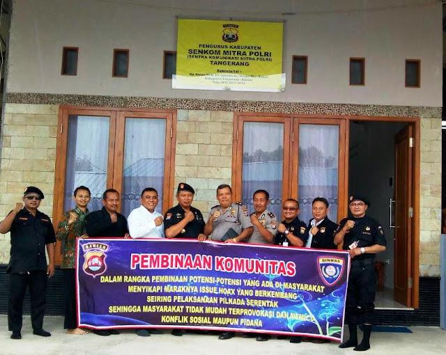 Pembinaan Komunitas  oleh Subditbinpol Polda Banten