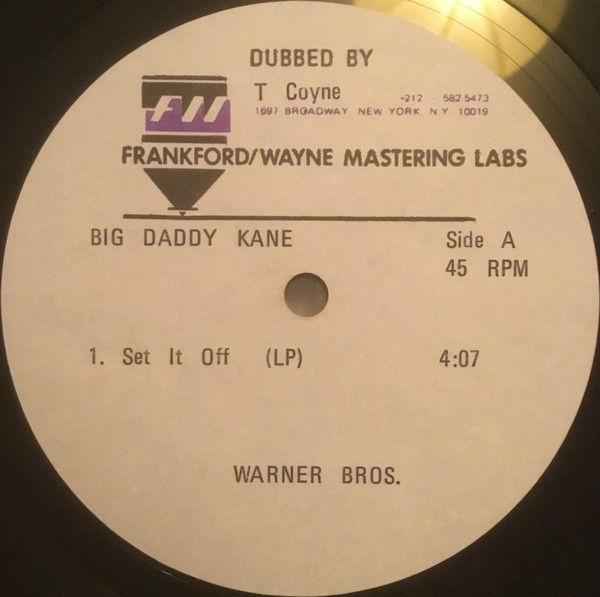 Discogs Present Rare Acetate Vinyl of Big Daddy Kane's