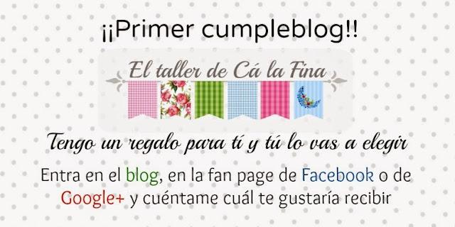 Cartel anunciador del sorteo del cumpleblog