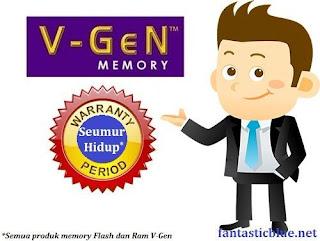 V-gen garansi seumur hidup