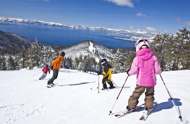 Esquiar em Lake Tahoe