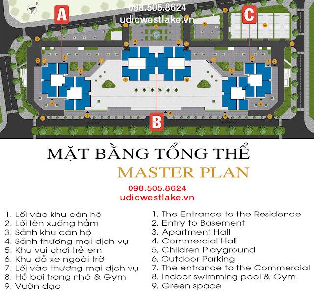 Mặt bằng thiết kế căn hộ dự án chung cư UDIC Westlake Võ Chí Công Ciputra Tây Hồ