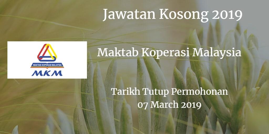 Jawatan Kosong MKM 07 Mac 2019