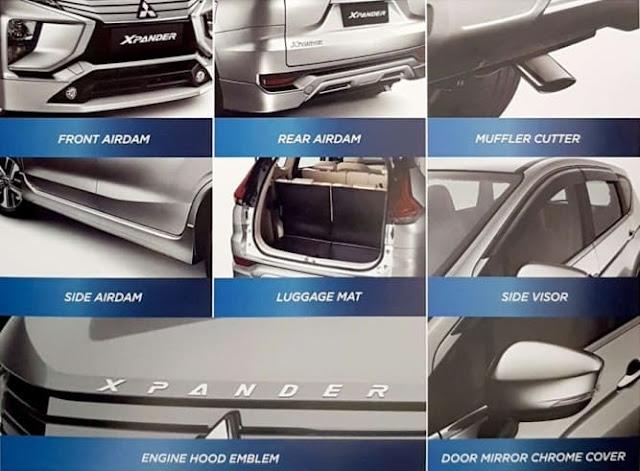 Gambar aksesoris original Mitsubishi Xpander