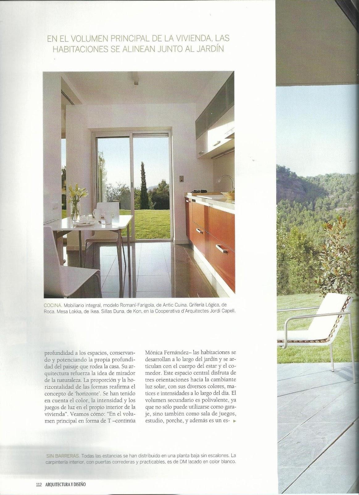 M nica fern ndez arquitecto habitatgessingulars for Revista arquitectura y diseno