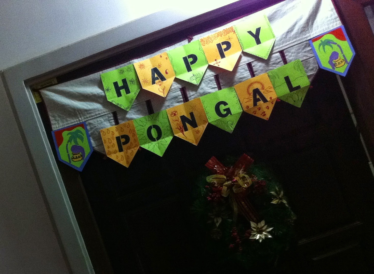 A door hanging the author made for Pongal