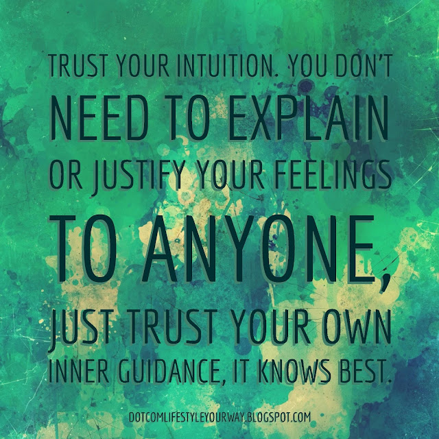 Trust your intuition. You don't need to explain or justify your feelings to anyone, just trust your own inner guidance, it knows best.