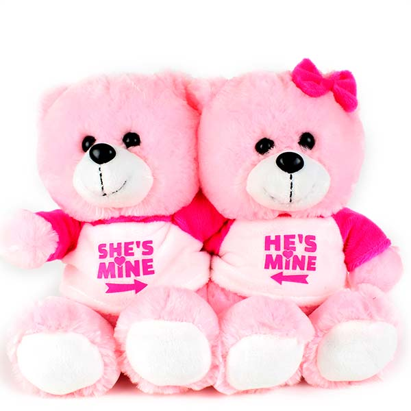Cute Teddy Bear Couple Wallpaper