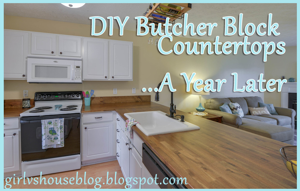 Girl vs. House: DIY Butcher Block Counter Tops - A Year Later