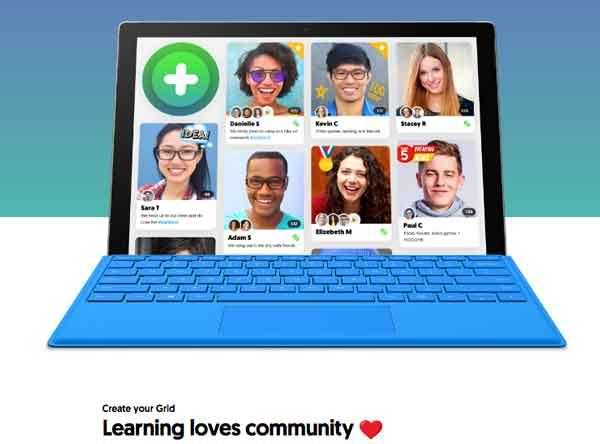 Captura de Flipgrid adquirido por Microsoft para la educación