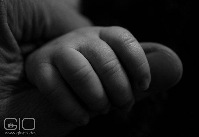 Photo: The baby hand