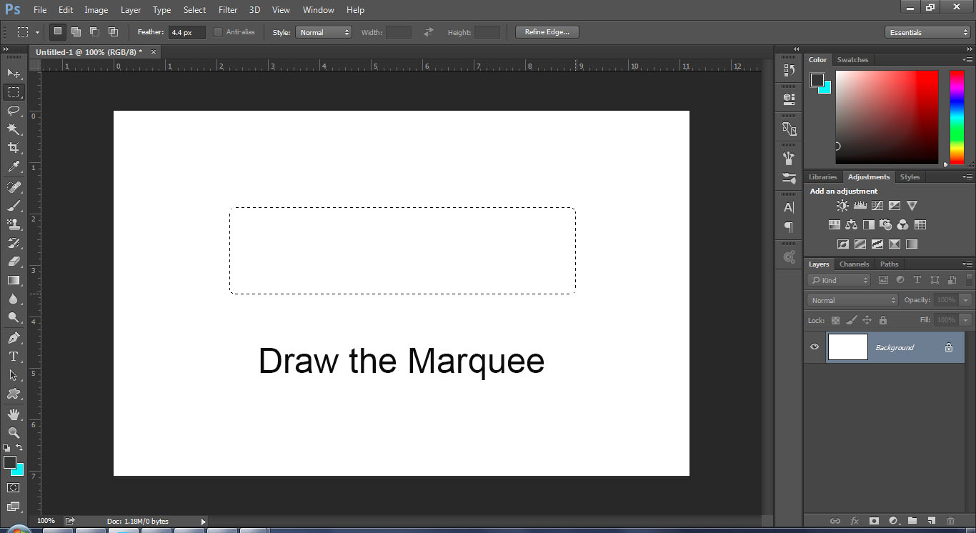 how to create border photoshop