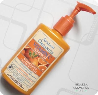 Gel limpiador Avalon Organics Renewal vitamina c