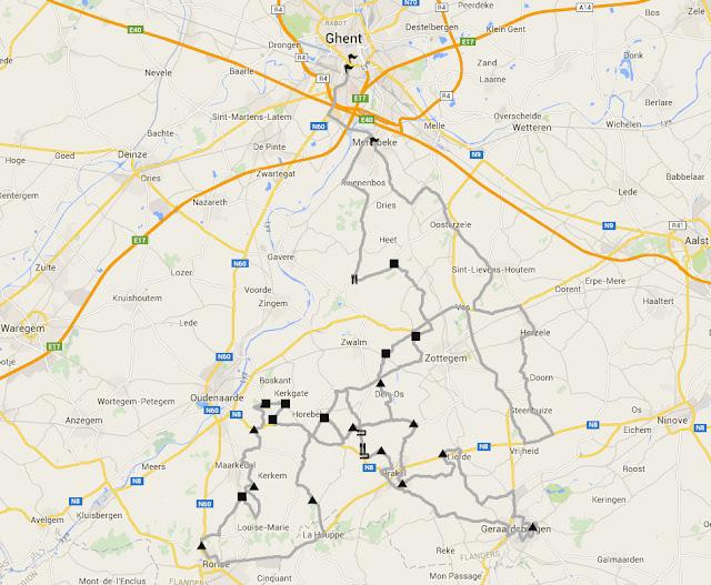 Omloop Het Niewuwsblad route map