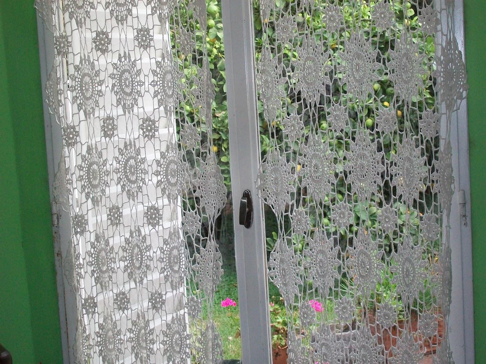 CORTINAS TEJIDAS AL CROCHET  Abuela Cata  Arte Textil