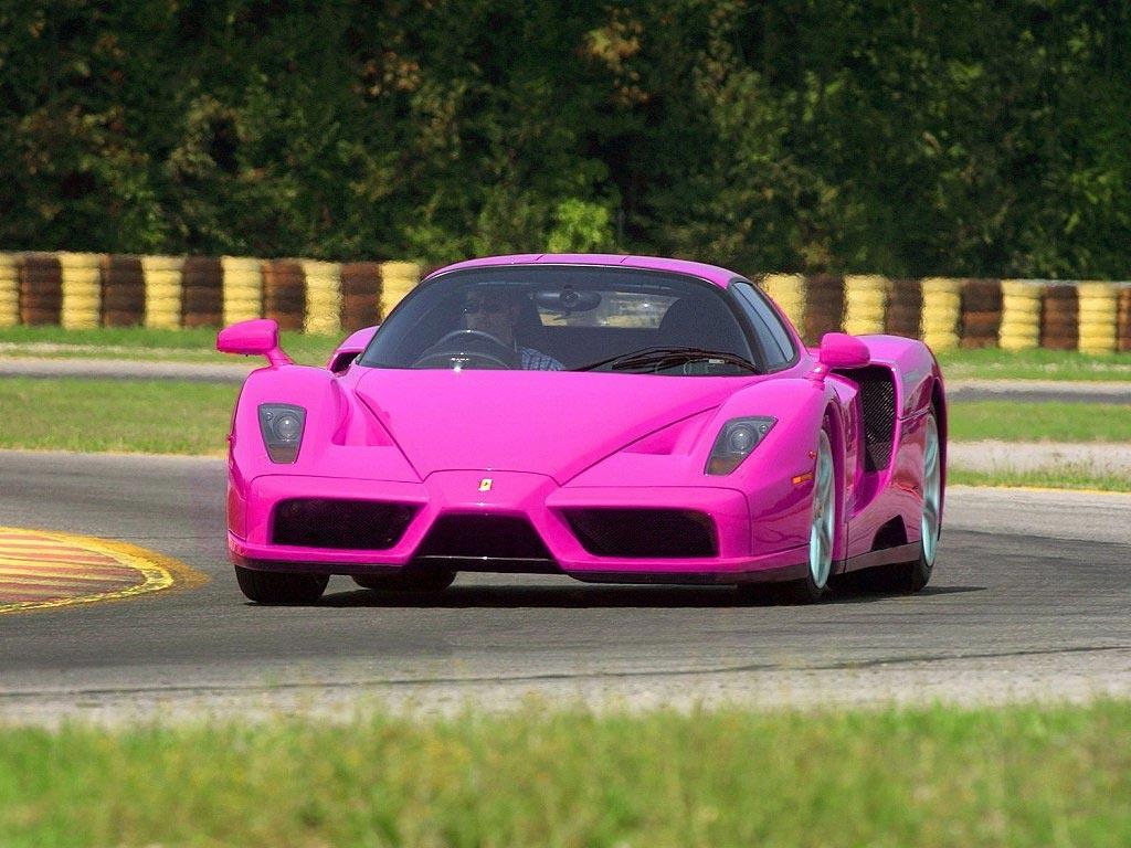 Wallpaper Ferrari Enzo Mobil Keren Warna Pink