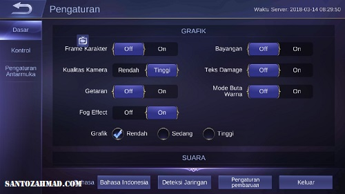 Pengaturan Mobile Legends
