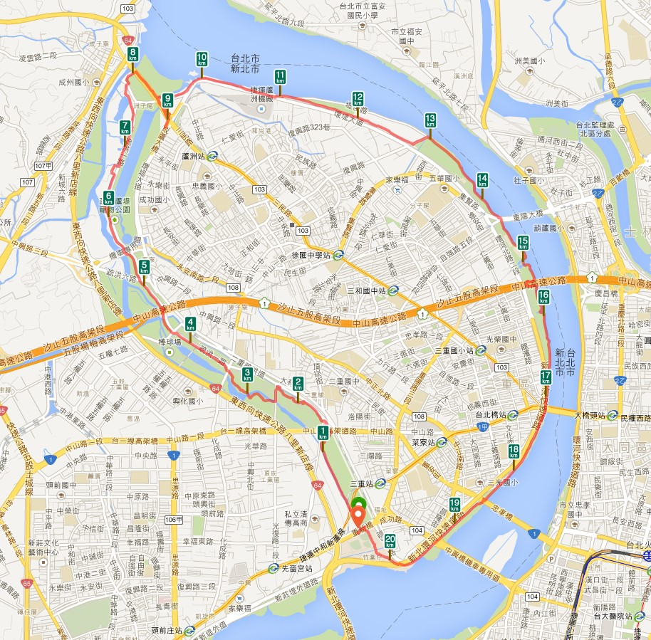 朱式幸福: 新北河濱自行車道:二重環狀線